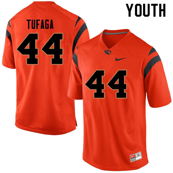 Youth #44 Isaiah Tufaga Oregon State Beavers College Football Jerseys Sale-Orange