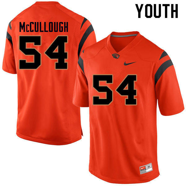 Youth #54 Mitchell McCullough Oregon State Beavers College Football Jerseys Sale-Orange