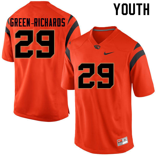 Youth #29 Myles Green-Richards Oregon State Beavers College Football Jerseys Sale-Orange