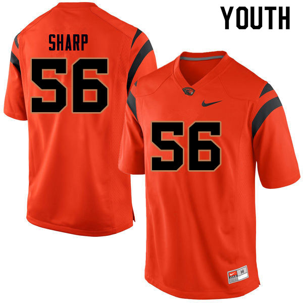 Youth #56 Riley Sharp Oregon State Beavers College Football Jerseys Sale-Orange