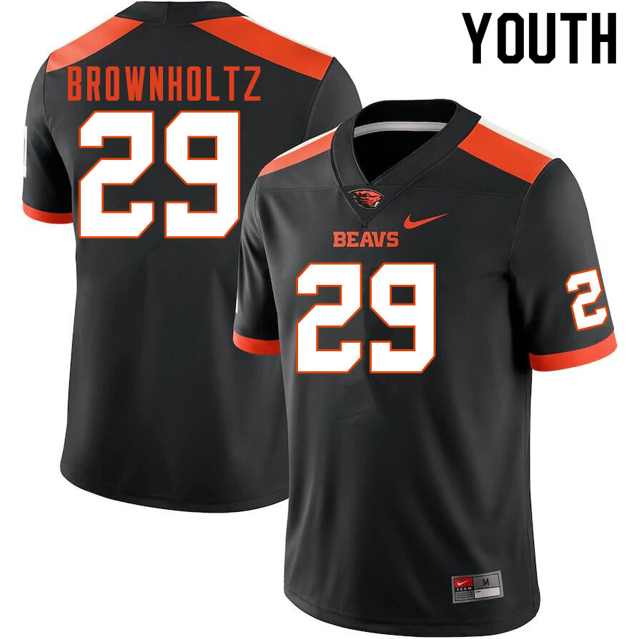 Youth #29 Cade Brownholtz Oregon State Beavers College Football Jerseys Sale-Black