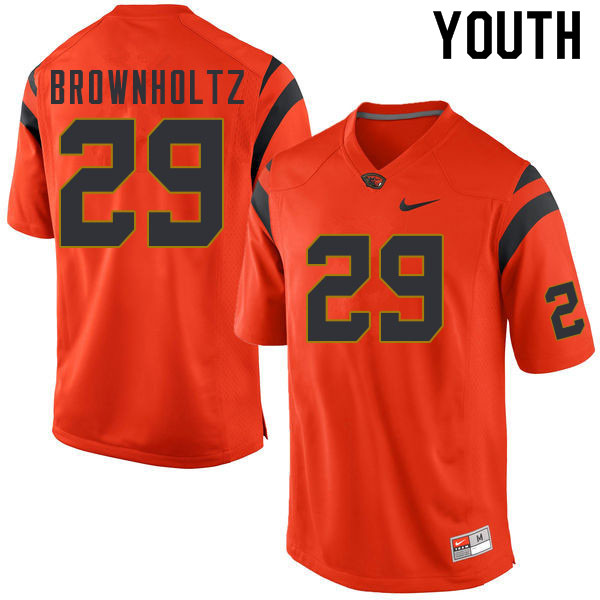 Youth #29 Cade Brownholtz Oregon State Beavers College Football Jerseys Sale-Orange