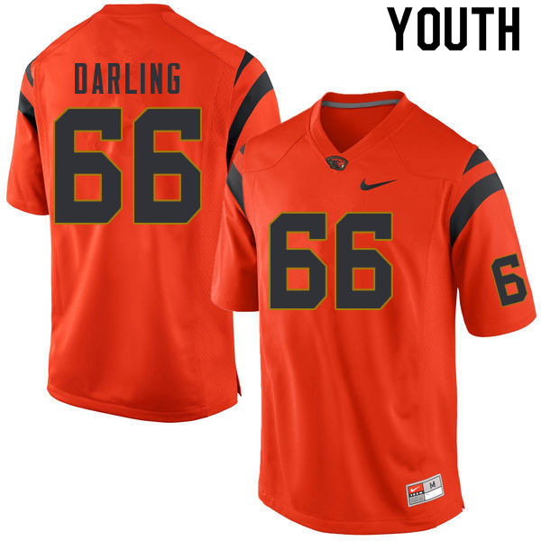 Youth #66 Cooper Darling Oregon State Beavers College Football Jerseys Sale-Orange