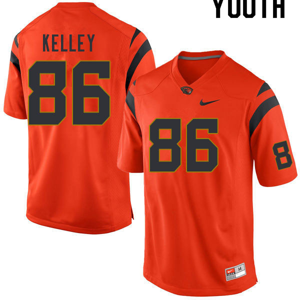 Youth #86 Malik Kelley Oregon State Beavers College Football Jerseys Sale-Orange