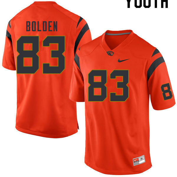 Youth #83 Silas Bolden Oregon State Beavers College Football Jerseys Sale-Orange