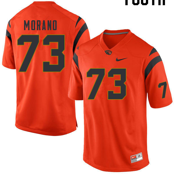 Youth #73 Tyler Morano Oregon State Beavers College Football Jerseys Sale-Orange