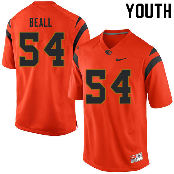 Youth #54 Andre Beall Oregon State Beavers College Football Jerseys Sale-Orange
