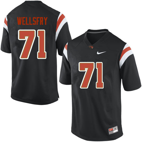 Youth Oregon State Beavers #71 Brock Wellsfry College Football Jerseys Sale-Black