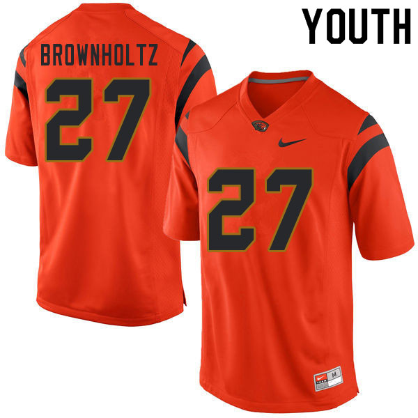 Youth #27 Cade Brownholtz Oregon State Beavers College Football Jerseys Sale-Orange