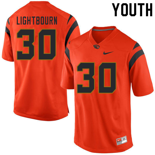 Youth #30 Caleb Lightbourn Oregon State Beavers College Football Jerseys Sale-Orange