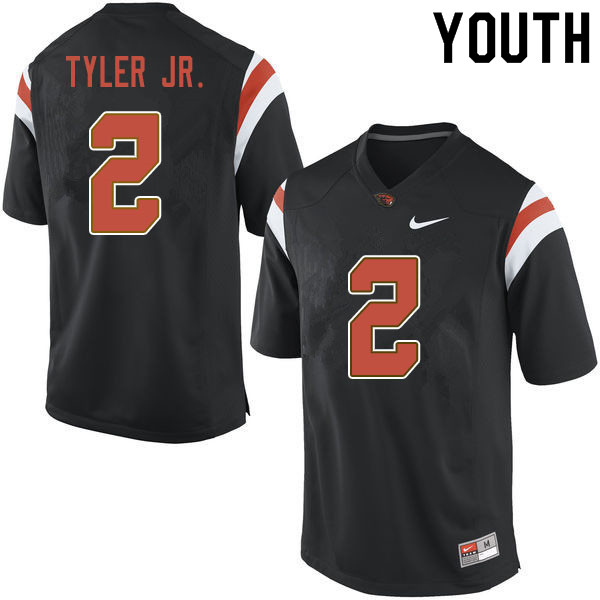 Youth #2 Calvin Tyler Jr. Oregon State Beavers College Football Jerseys Sale-Black
