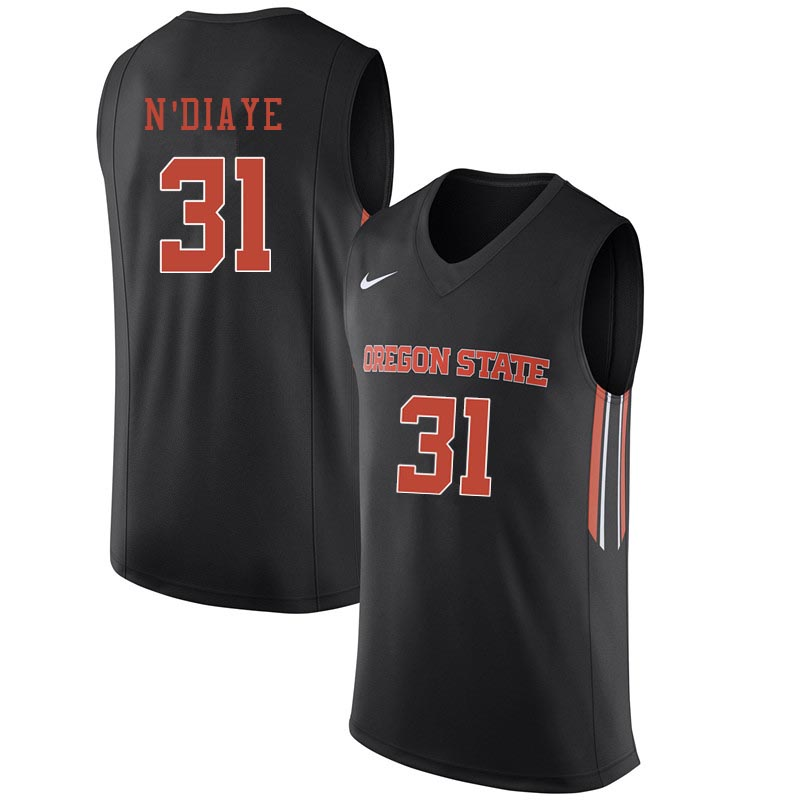Youth Oregon State Beavers #31 Cheikh N'diaye College Basketball Jerseys Sale-Black