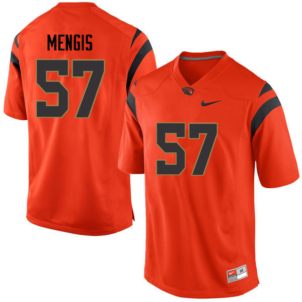 Youth Oregon State Beavers #57 Chris Mengis College Football Jerseys Sale-Orange