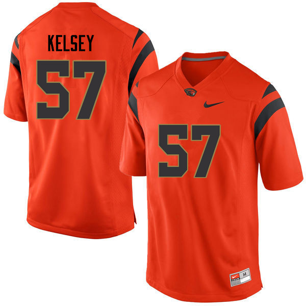Youth Oregon State Beavers #57 Conner Kelsey College Football Jerseys Sale-Orange