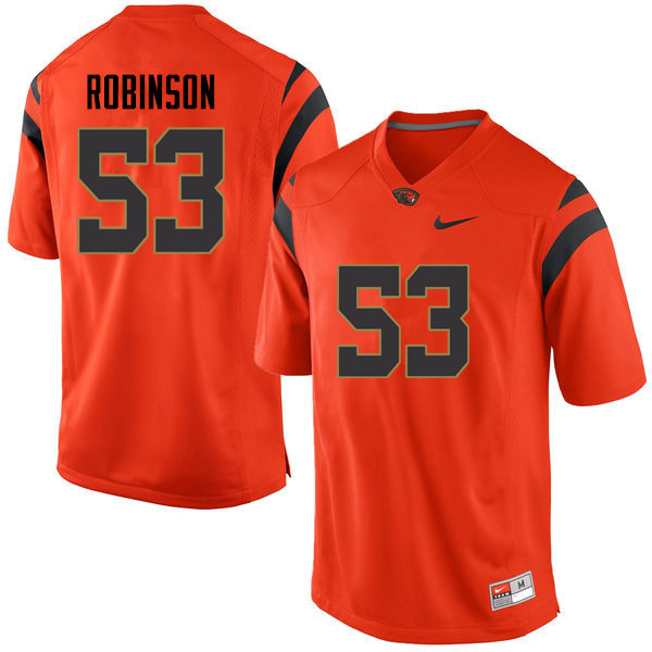 Youth Oregon State Beavers #53 Emony Robinson College Football Jerseys Sale-Orange