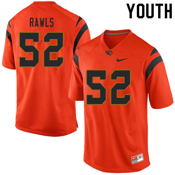 Youth #52 James Rawls Oregon State Beavers College Football Jerseys Sale-Orange