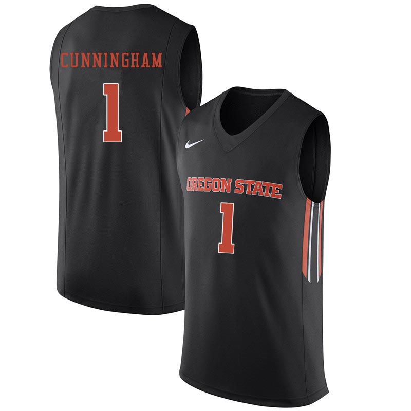 Youth Oregon State Beavers #1 Jared Cunningham College Basketball Jerseys Sale-Black