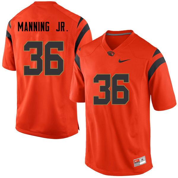 Youth Oregon State Beavers #36 Jeffrey Manning Jr. College Football Jerseys Sale-Orange