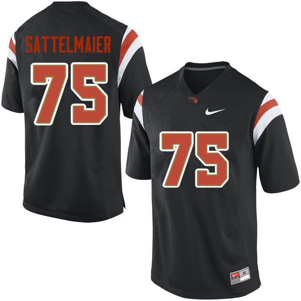 Youth Oregon State Beavers #75 Justin Sattelmaier College Football Jerseys Sale-Black