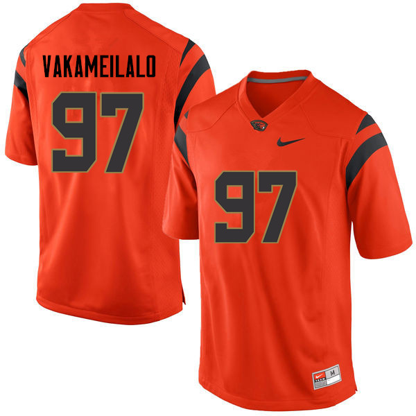 Youth Oregon State Beavers #97 Kalani Vakameilalo College Football Jerseys Sale-Orange