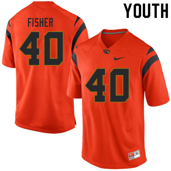 Youth #40 Kyrei Fisher Oregon State Beavers College Football Jerseys Sale-Orange