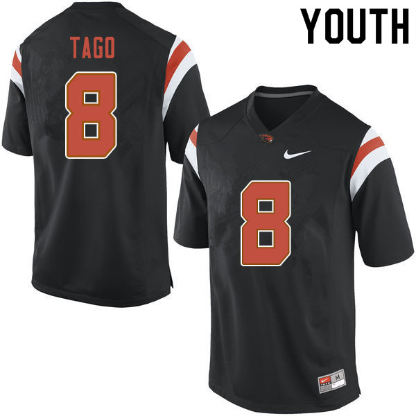 Youth #8 Matthew Tago Oregon State Beavers College Football Jerseys Sale-Black