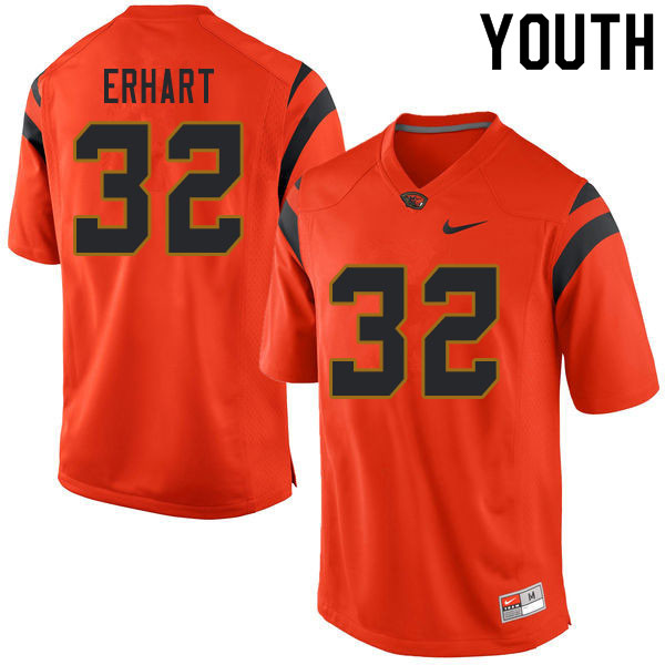 Youth #32 Michael Erhart Oregon State Beavers College Football Jerseys Sale-Orange