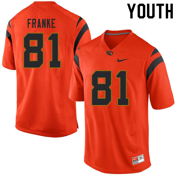 Youth #81 Ryan Franke Oregon State Beavers College Football Jerseys Sale-Orange