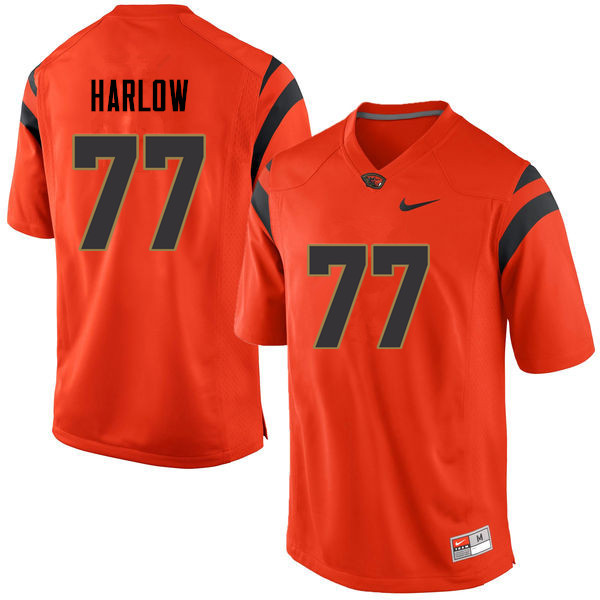 Youth Oregon State Beavers #77 Sean Harlow College Football Jerseys Sale-Orange