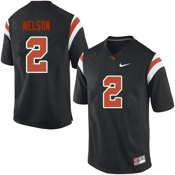 Youth Oregon State Beavers #2 Steven Nelson College Football Jerseys Sale-Black