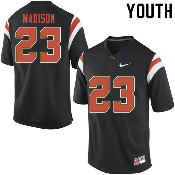 Youth #23 Ta'Ron Madison Oregon State Beavers College Football Jerseys Sale-Black