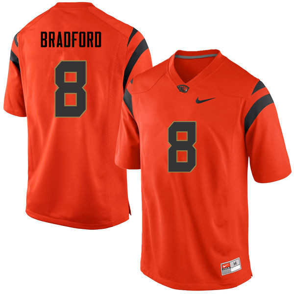 Youth Oregon State Beavers #8 Trevon Bradford College Football Jerseys Sale-Orange